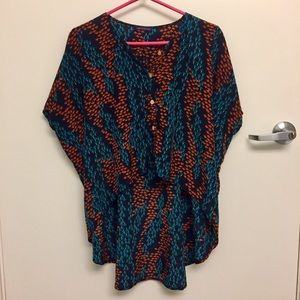 Cool High-Low Patterned Blouse!